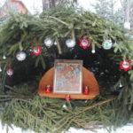 Сооружение рождественского вертепа